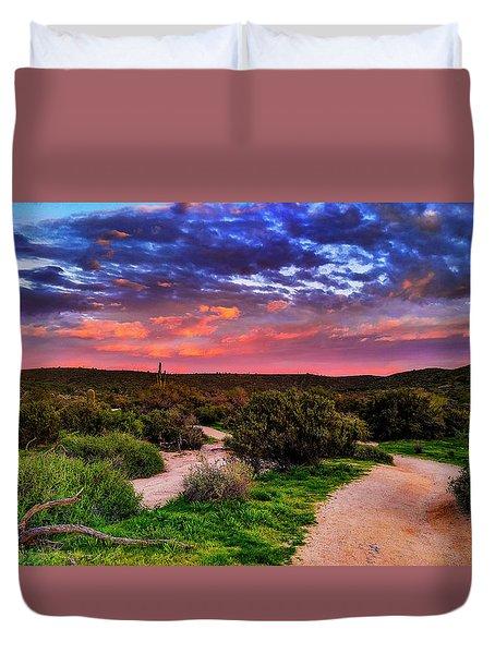Scenic Trailhead Duvet Cover