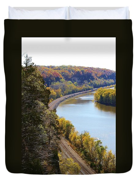 Duvet Cover featuring the photograph Scenic View by Bruce Bley