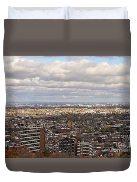 Scenic View Of Montreal Duvet Cover