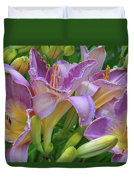 Scent Of A Lily Duvet Cover by Kathi Mirto
