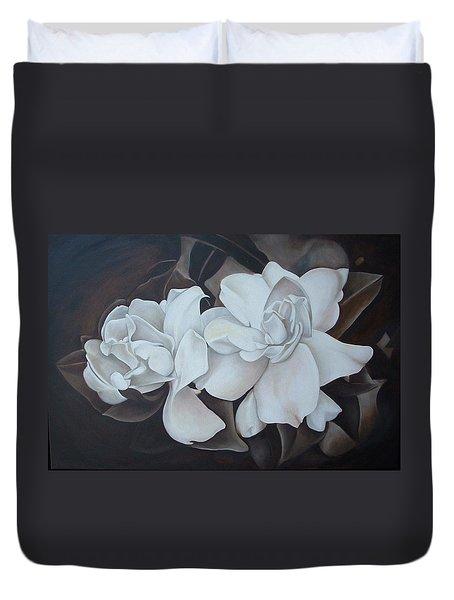Scent Of Gardenias Duvet Cover by Daniela Easter