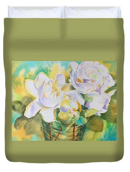 Scent Of Gardenias  Duvet Cover