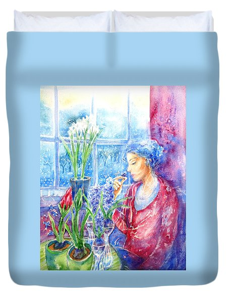 Scent Of Hyacinths Duvet Cover