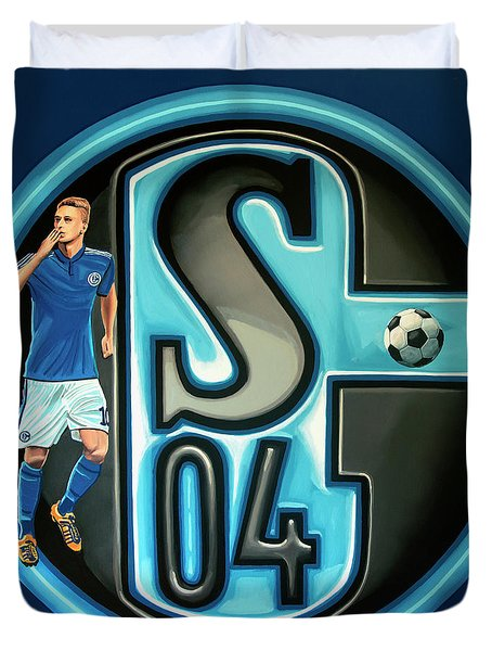Schalke 04 Gelsenkirchen Painting Duvet Cover