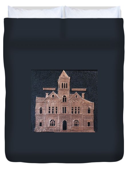 Schley County, Georgia Courthouse Duvet Cover