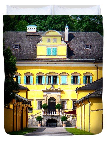 Schloss Hellbrunn Duvet Cover by Carol Groenen