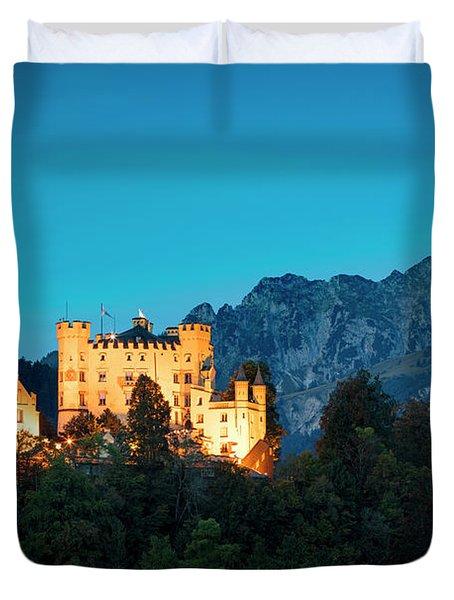 Duvet Cover featuring the photograph Schloss Hohenschwangau by Brian Jannsen