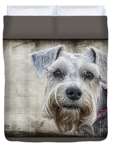 Schnauzer Fellow Duvet Cover