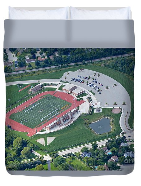 Duvet Cover featuring the photograph Schneider Field 2 by Bill Lang