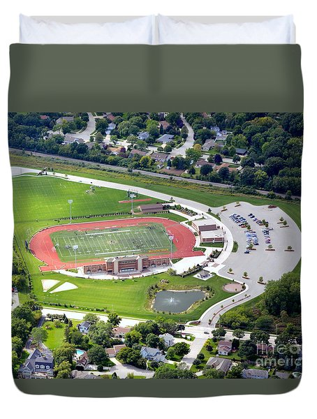 Duvet Cover featuring the photograph Schneider Field by Bill Lang