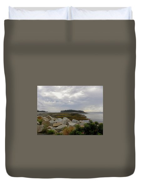 Schoodic Point Maine Duvet Cover by Jewels Blake Hamrick