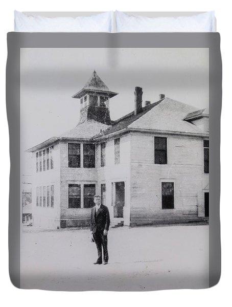 School 1901 Back Duvet Cover