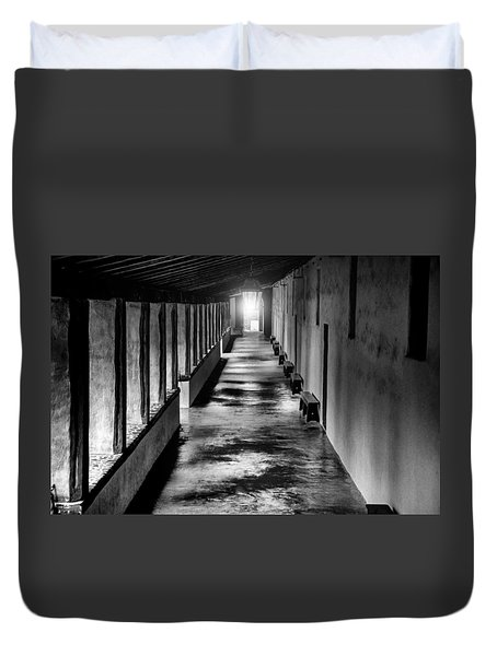School At The Mission Duvet Cover by Patrick Boening