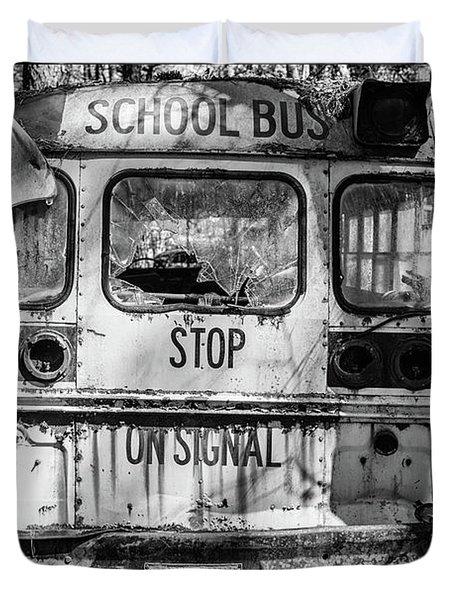 School Bus Duvet Cover