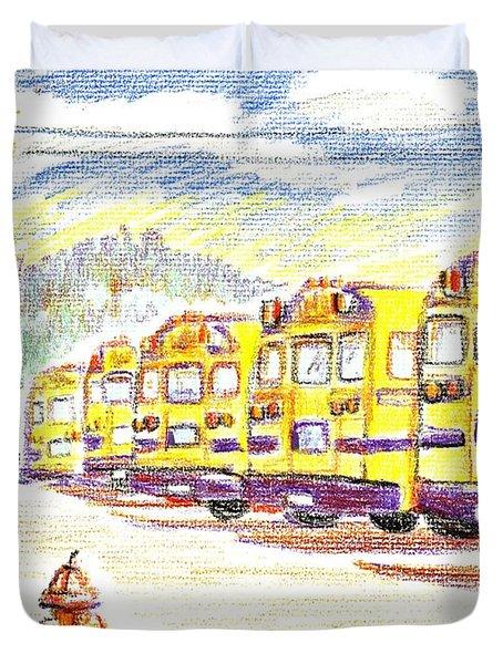 School Bussiness Duvet Cover