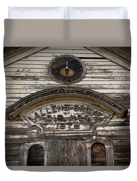 School Front Duvet Cover by Ray Congrove