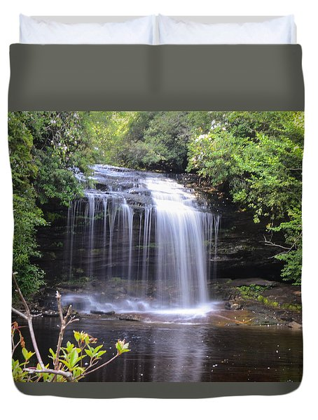 School House Falls Duvet Cover