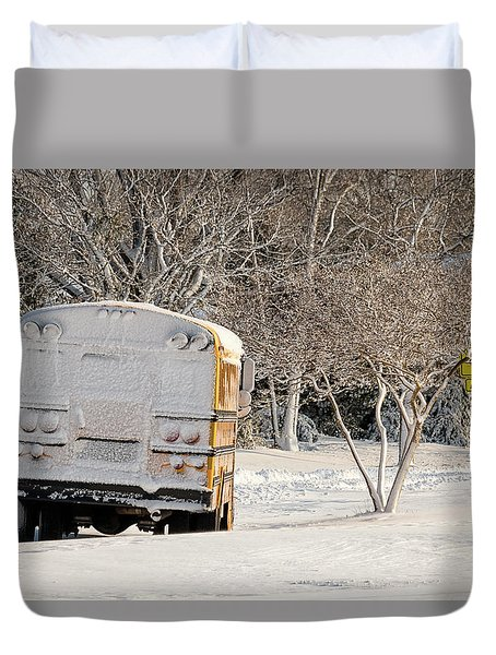 School Is Out Duvet Cover