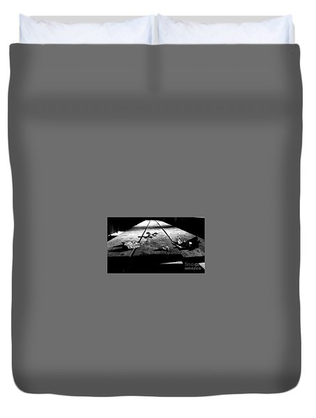 Schooled In Thought - Black And White Duvet Cover