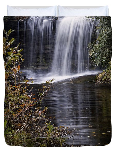 Schoolhouse Falls Duvet Cover by Rob Travis