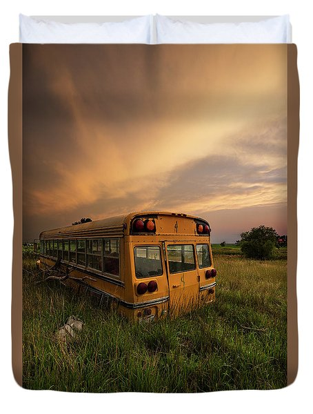 Duvet Cover featuring the photograph School's Out  by Aaron J Groen