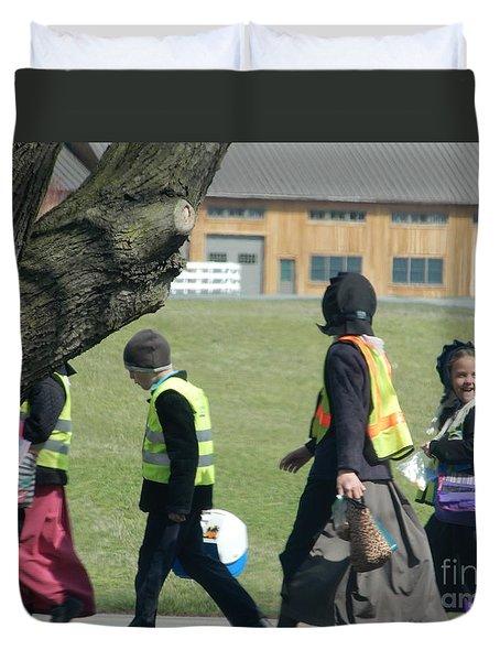 School's Out- Four Duvet Cover