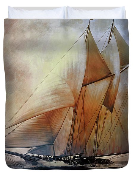 Schooner America In 1910.   Duvet Cover