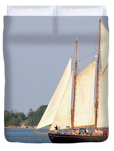 Schooner Cruise, Casco Bay, South Portland, Maine  -86696 Duvet Cover