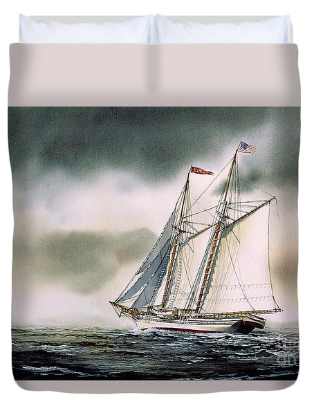 Schooner Heritage Duvet Cover by James Williamson