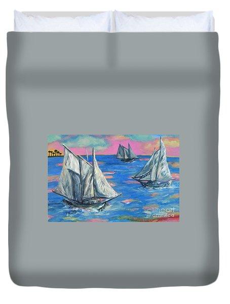 Schooner Seas Duvet Cover