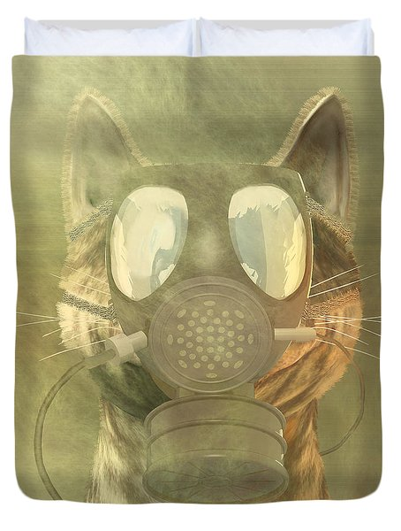 Schrodinger Underestimates The Cat. Duvet Cover by Carol and Mike Werner