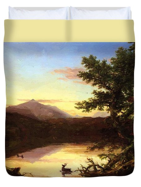 Schroon Lake 1840 Duvet Cover