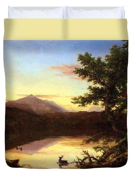 Schroon Lake 1840 Duvet Cover