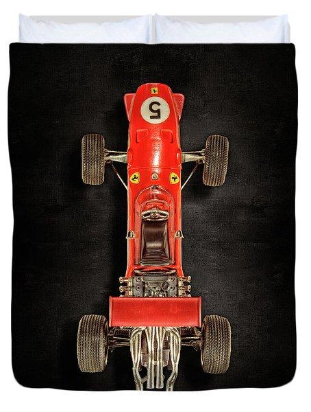 Schuco Ferrari Formel 2 Top On Black Duvet Cover
