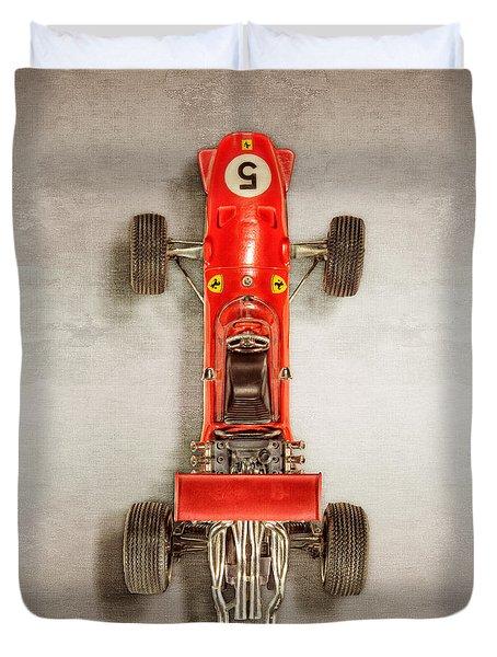 Schuco Ferrari Formel 2 Top Duvet Cover