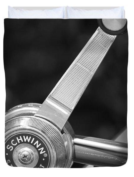 Schwinn Stik-shift Duvet Cover by Lauri Novak