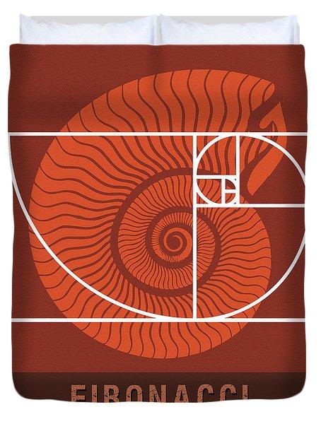Science Posters - Fibonacci - Mathematician Duvet Cover