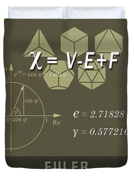 Science Posters - Leonhard Euler - Mathematician, Physicist, Engineer Duvet Cover
