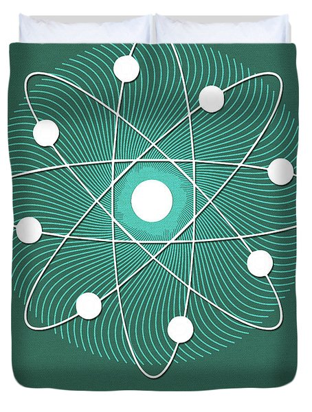 Science Posters - Niels Bohr - Physicist Duvet Cover