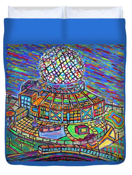 Science World, Vancouver, Alive In Color Duvet Cover