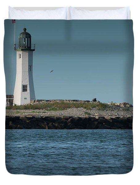 Scituate Lighthouse Duvet Cover