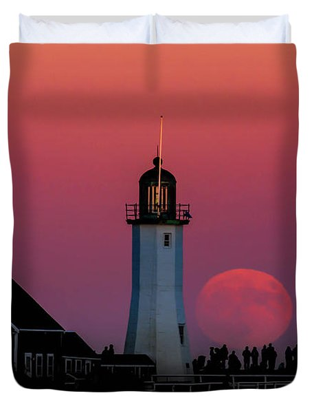 Scituate Supermoon Duvet Cover