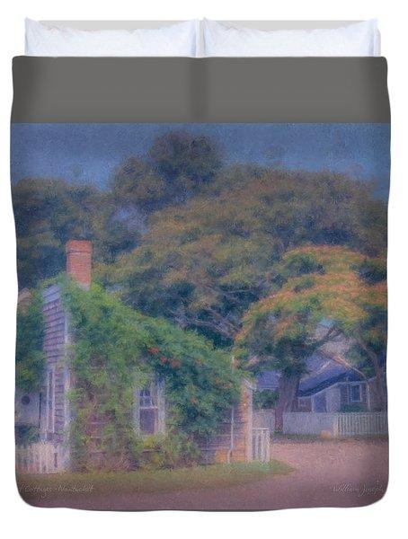 Sconset Cottages Nantucket Duvet Cover