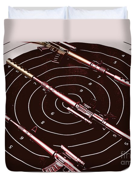Scopes Of Military Precision  Duvet Cover