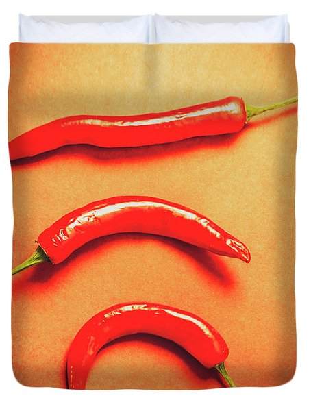 Scorching Food Background Duvet Cover