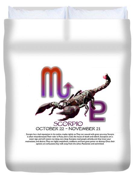 Scorpio Sun Sign Duvet Cover