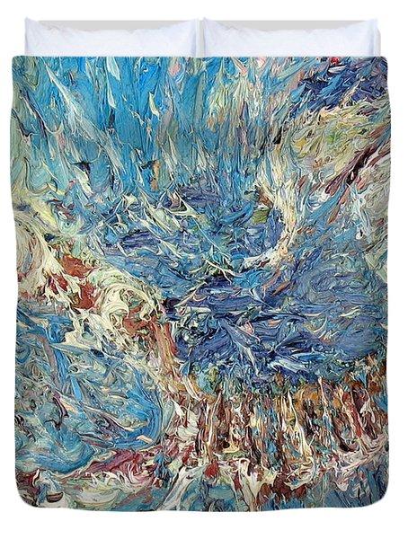 Scorpion Oil Painting Duvet Cover by Fabrizio Cassetta