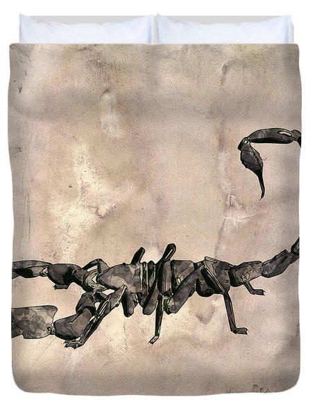 Scorpion Pop Art By Mary Bassett Duvet Cover