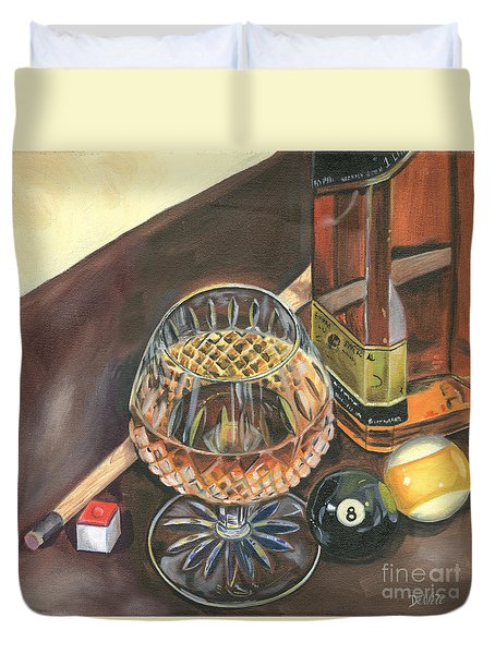 Scotch Cigars And Pool Duvet Cover