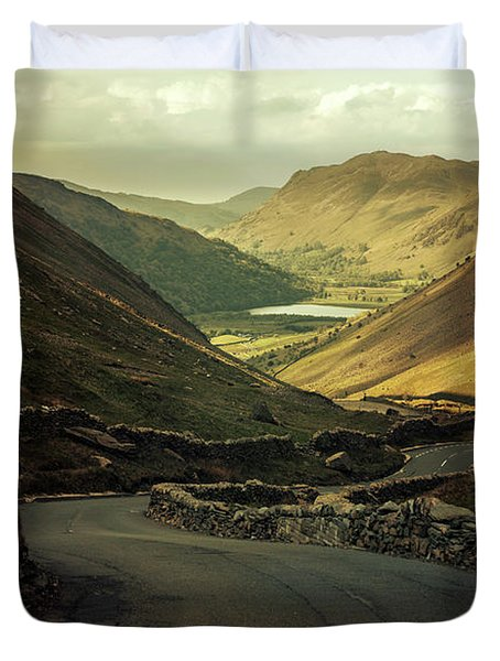 Scotland At The Sunset Duvet Cover by Jaroslaw Blaminsky